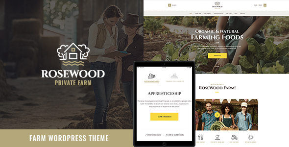 Image of Rosewood | Organic Farming WordPress Theme