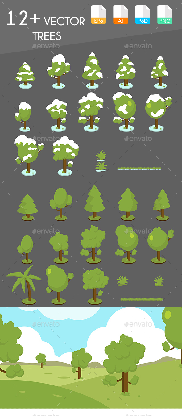 GraphicRiver Vector Trees 20982785