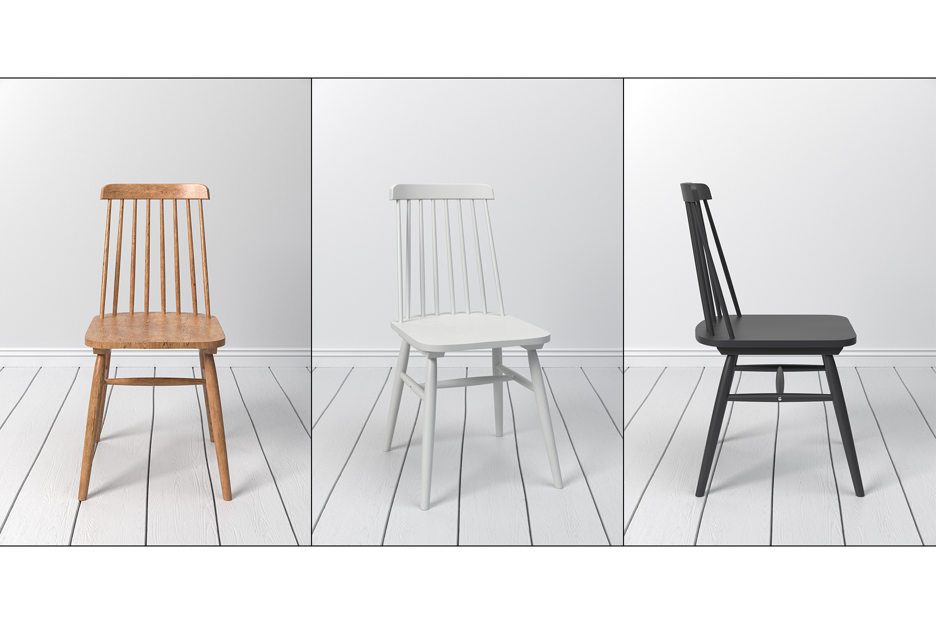 LaForma Albeup Scandinavian Chair 3D Model