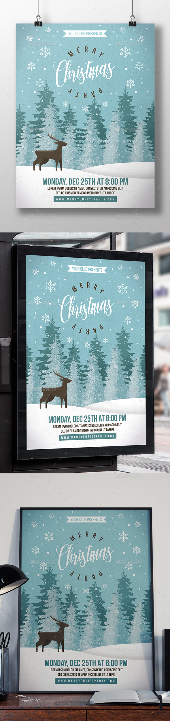 GraphicRiver Christmas Party Event Flyer 20987969