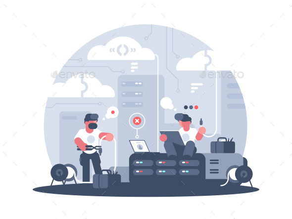 GraphicRiver Engineers of Service Support 20987975