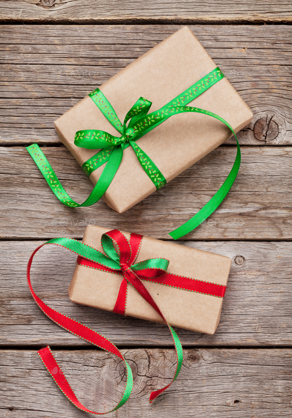 Christmas gift boxes - Stock Photo - Images