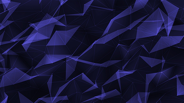 VideoHive Polygonal Blue Background 20988062