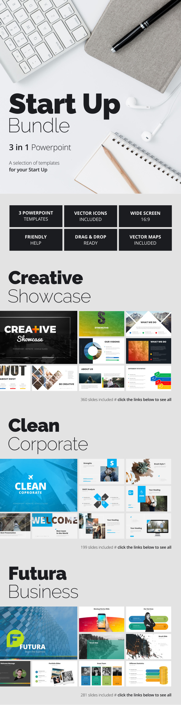 Start Up Bundle - Business PowerPoint Templates
