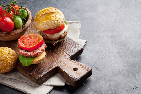 Homemade burgers - Stock Photo - Images