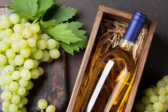 Wine and grapes - Stock Photo - Images
