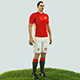Ibrahimovic football Player game ready character