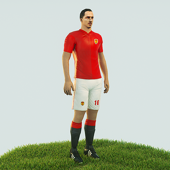 3DOcean Ibrahimovic football Player game ready character 20988143