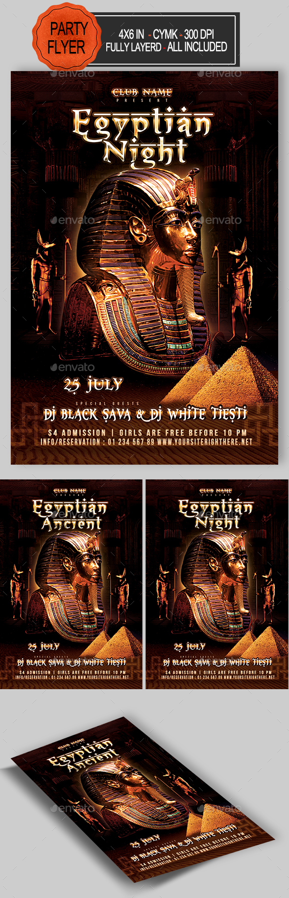 GraphicRiver Egyptian Night Flyer 20988306