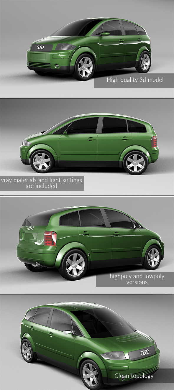 3DOcean Audi A2 20988310
