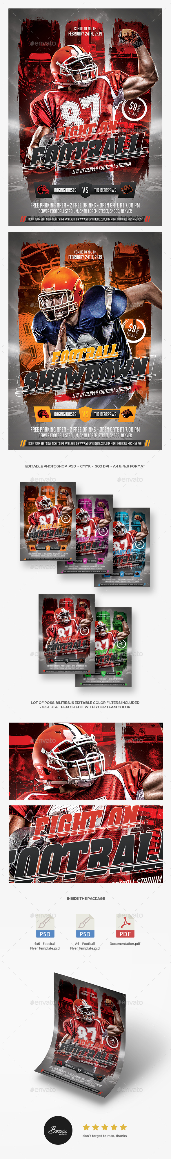 GraphicRiver Football Flyer 20988330