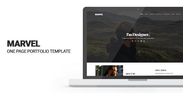 Download Marvel - Personal Portfolio Template            nulled nulled version
