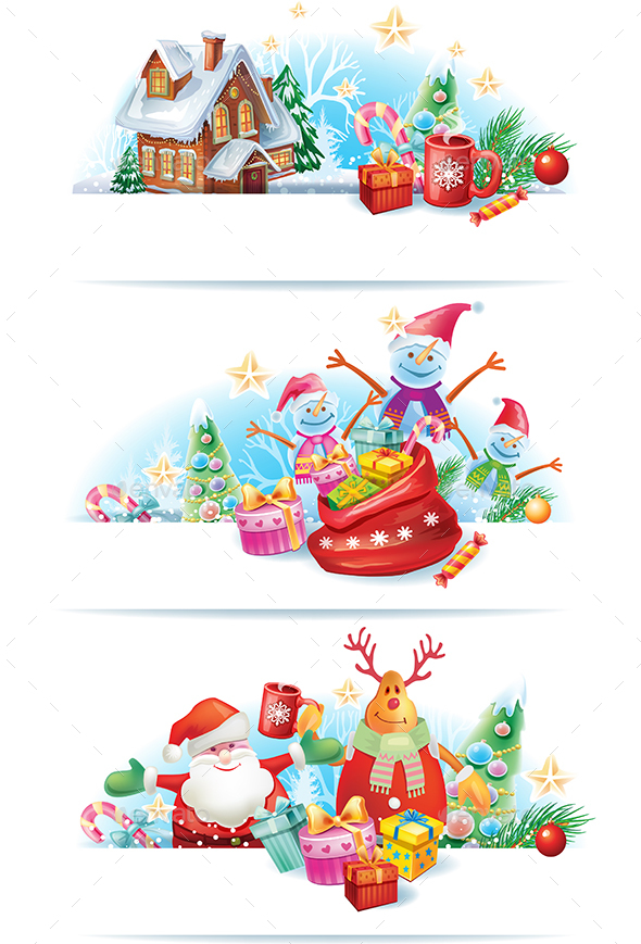 GraphicRiver Set of Christmas Banners 20988494