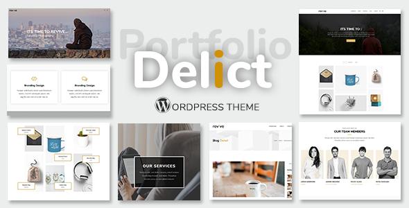 Delict - Minimal Portfolio Theme - Portfolio Creative