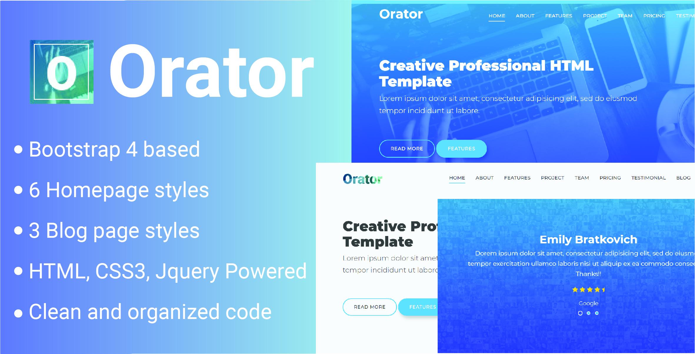 Orator - Corporate, Portfolio and Agency Multipurpose Template by qdonow