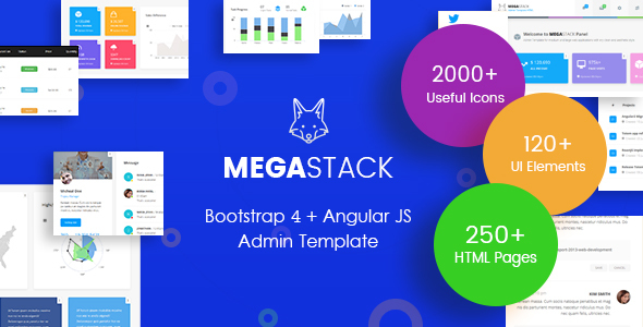 ThemeForest MegaStack Bootstrap 4 & Angular JS Admin Dashboard Template and UI Framework 20758466