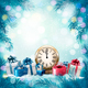 Christmas Holiday Background and Presents