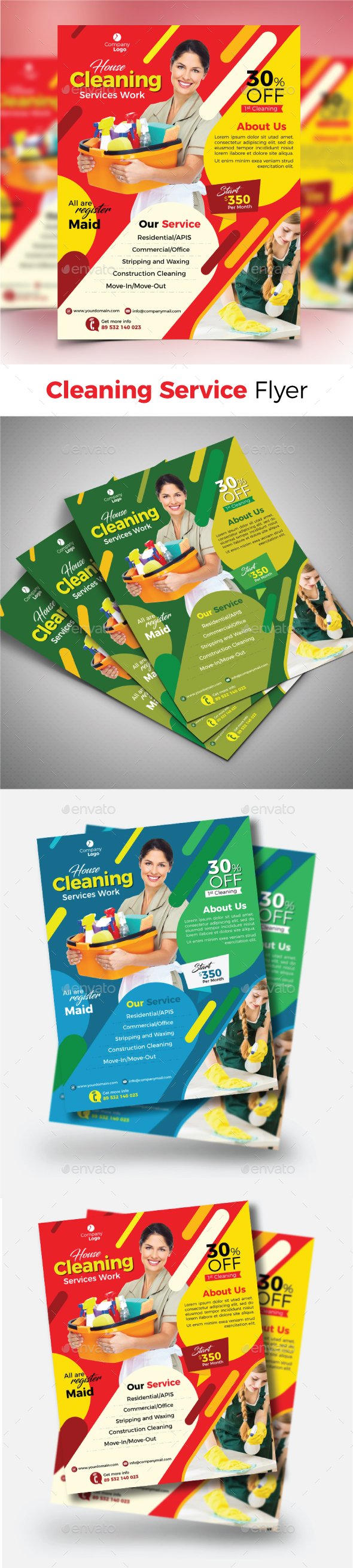 GraphicRiver Cleaning Service Flyer 20988566