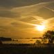 Sunrise above the river Merwede near Boven-Hardinxveld in the Dutch region Alblasserwaard - PhotoDune Item for Sale