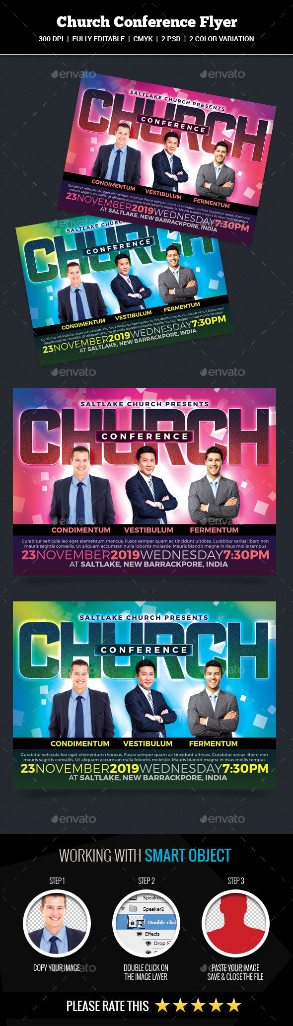 GraphicRiver Church Conference Flyer 20988598