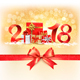 New Year Background with Gift Boxes