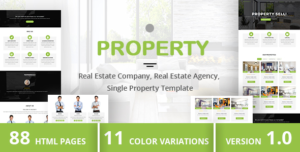 PROPERTY - Real Estate Company, Real Estate Agency, Single Property Template - Business Corporate