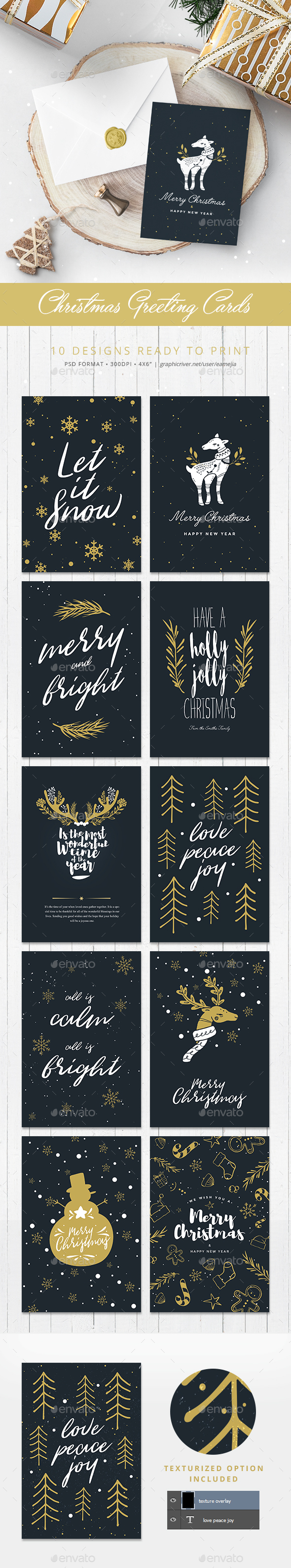 GraphicRiver 10 Christmas Greetings Cards 20988935