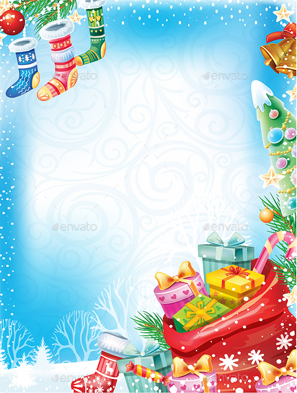 GraphicRiver Christmas Card with Gifts 20988962