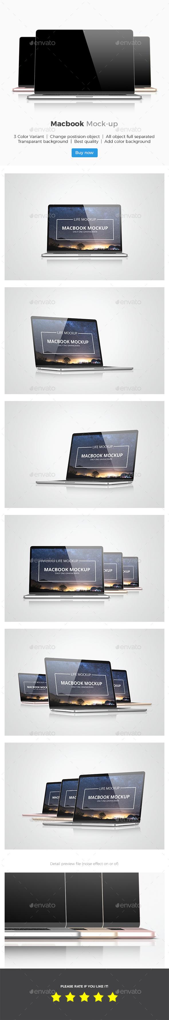 GraphicRiver Macbook Mockup 20988989