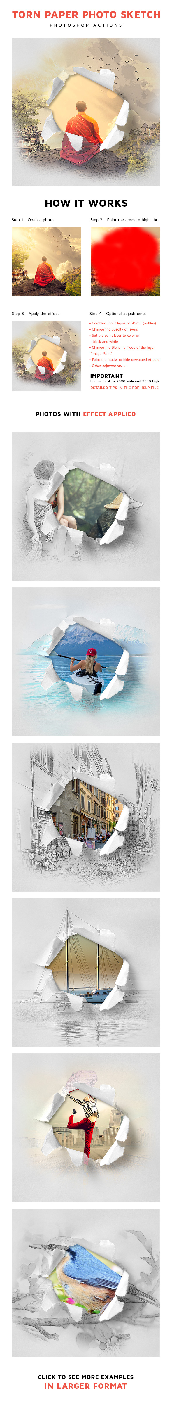 GraphicRiver Torn Paper Photo Sketch 20989015