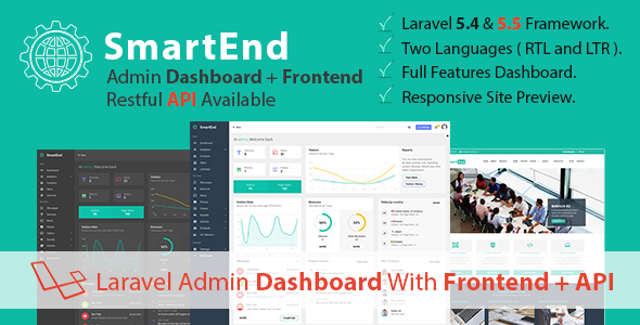 SmartEnd - Laravel Admin Dashboard with Frontend and Restful API - CodeCanyon Item for Sale