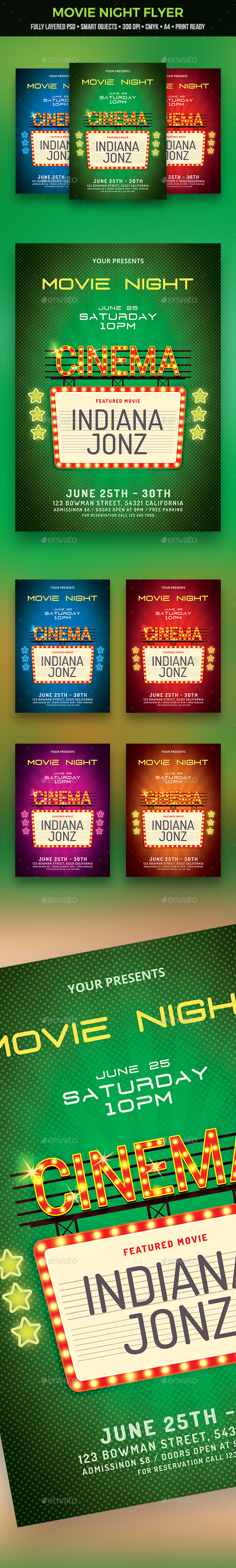 GraphicRiver Movie Night Flyer 20989153