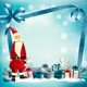 Christmas Holiday Background With Presents And Santa Claus