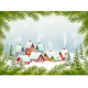 Winter Village Christmas Holiday Background