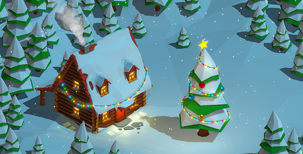 VideoHive Christmas Cabin 20989303