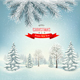 Christmas Holiday Background With Landscape - GraphicRiver Item for Sale