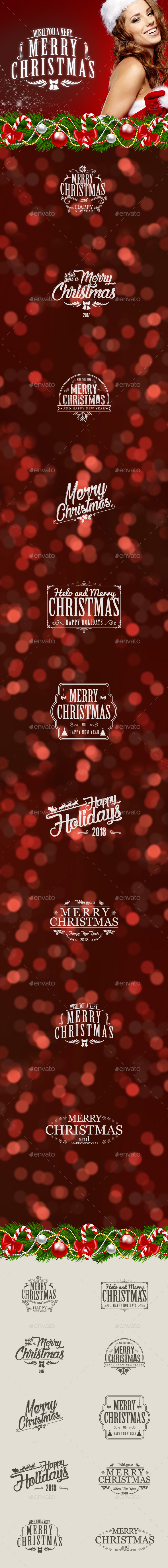 GraphicRiver Christmas Sticker 20989490
