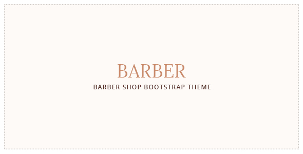 Barber - Hair Salon . Barber Shop Template