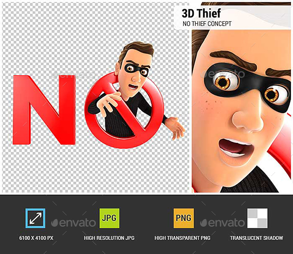 GraphicRiver 3D No Thief Concept 20989600