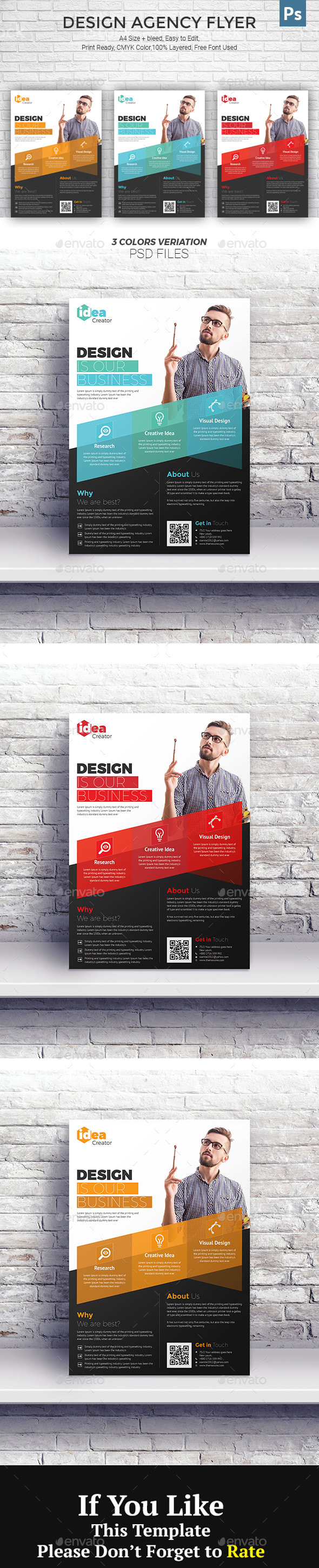 GraphicRiver Design Agency Flyer 20989652