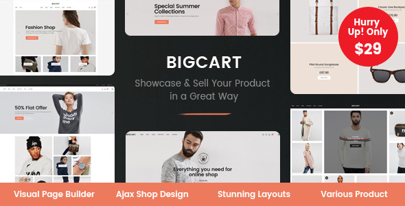 ThemeForest Bigcart Clean Modern WordPress Theme for WooCommerce 20357512