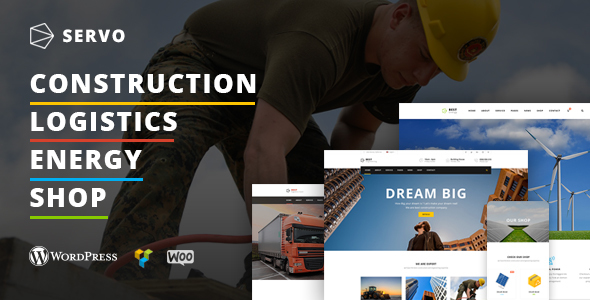 Servo Construction Logistics Energy Engineering Theme