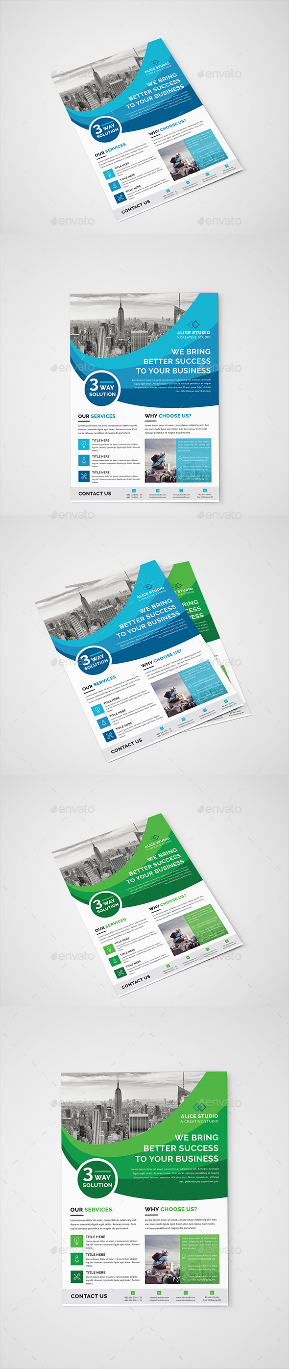 GraphicRiver Corporate Flyer Template 20989720