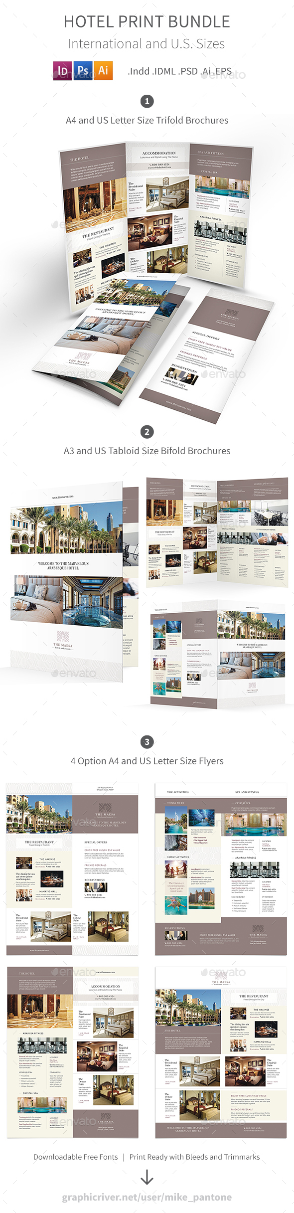 Hotel Print Bundle 7 - Informational Brochures