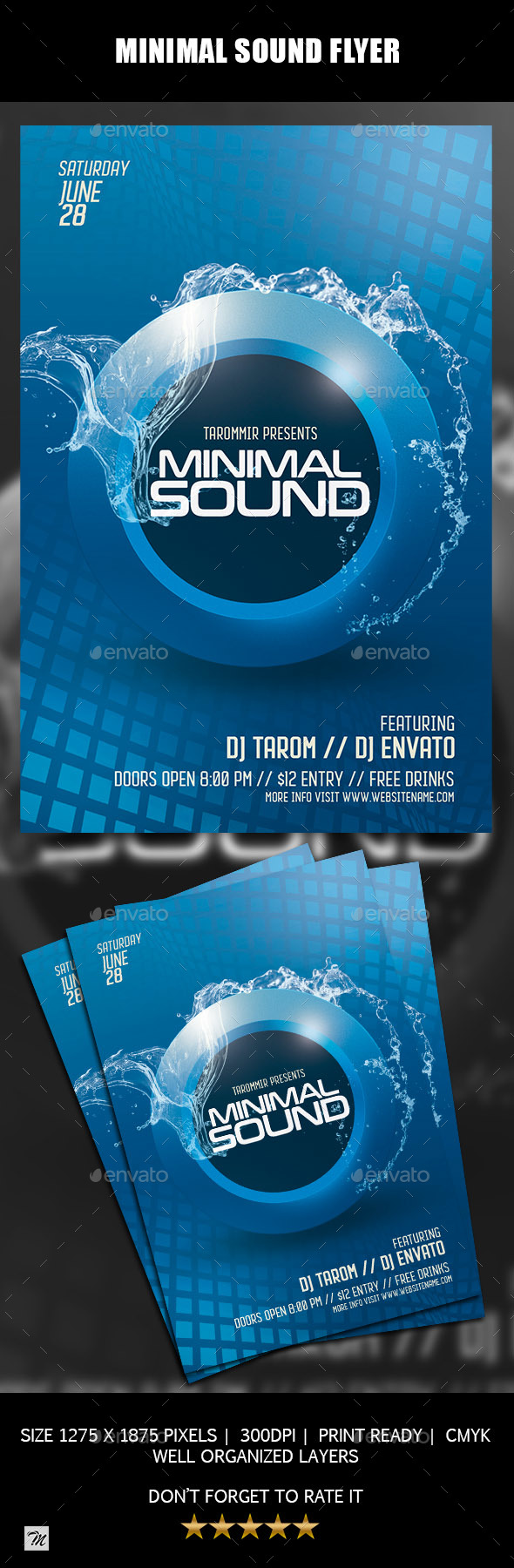 GraphicRiver Minimal Sound Flyer 20989734