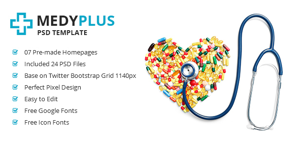 MedyPlus - Medical PSD Template