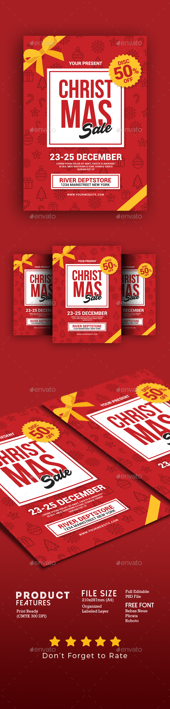 GraphicRiver Christmas Sale Flyer 20989782