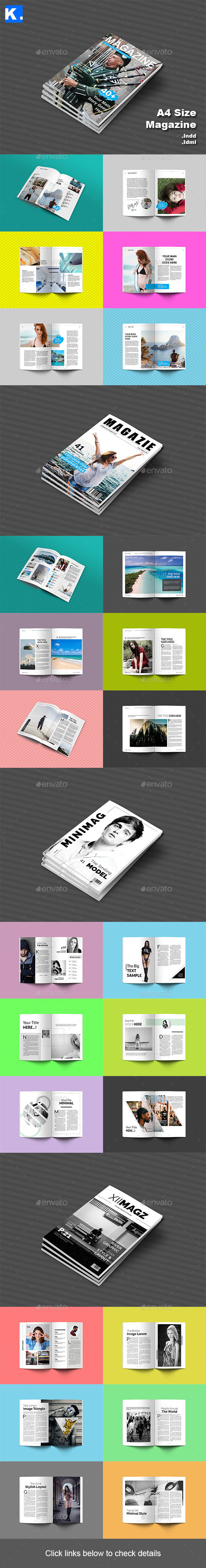 Magazine Bundle 1 - Magazines Print Templates