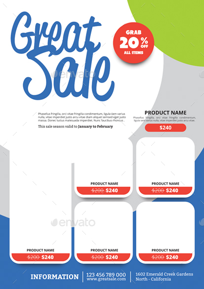 Product Promotion Flyer By Monggokerso  Graphicriver