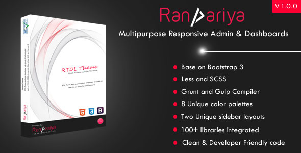 Ranpariya – Multipurpose Responsive Admin Dashboard Template            nulled